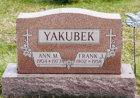 YAKUBEK, ANN M - Richland County, Ohio | ANN M YAKUBEK - Ohio Gravestone Photos