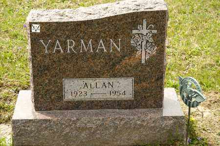 YARMAN, ALLAN - Richland County, Ohio | ALLAN YARMAN - Ohio Gravestone Photos