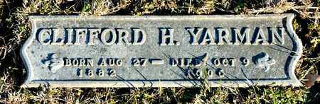 YARMAN, CLIFFORD H - Richland County, Ohio | CLIFFORD H YARMAN - Ohio Gravestone Photos