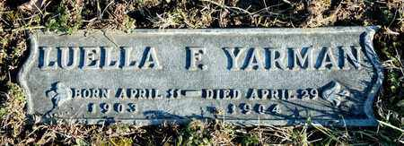YARMAN, LUELLA F - Richland County, Ohio | LUELLA F YARMAN - Ohio Gravestone Photos