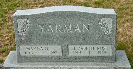 YARMAN, MAYNARD L - Richland County, Ohio | MAYNARD L YARMAN - Ohio Gravestone Photos