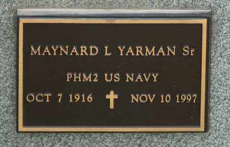 YARMAN SR, MAYNARD L - Richland County, Ohio | MAYNARD L YARMAN SR - Ohio Gravestone Photos