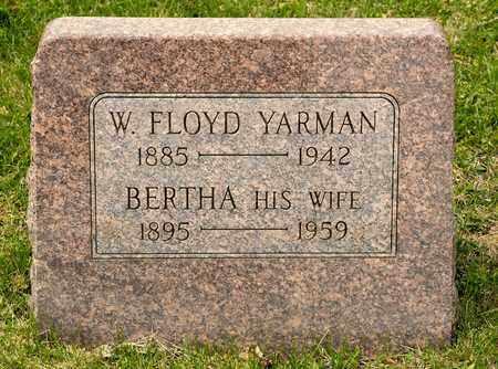 YARMAN, W FLOYD - Richland County, Ohio | W FLOYD YARMAN - Ohio Gravestone Photos