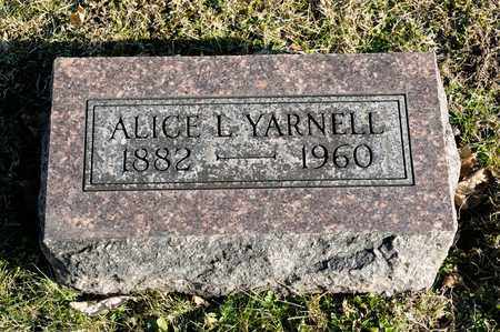 YARNELL, ALICE L - Richland County, Ohio | ALICE L YARNELL - Ohio Gravestone Photos