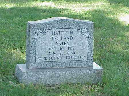 HOLLAND YATES, HATTIE N. - Richland County, Ohio | HATTIE N. HOLLAND YATES - Ohio Gravestone Photos