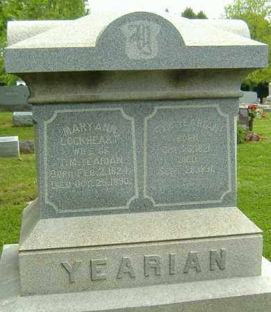 YEARIMAN, MARY ANN - Richland County, Ohio | MARY ANN YEARIMAN - Ohio Gravestone Photos