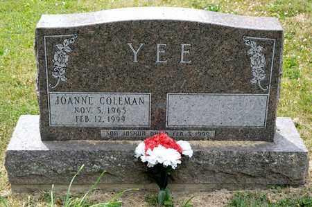 COLEMAN YEE, JOANNE - Richland County, Ohio | JOANNE COLEMAN YEE - Ohio Gravestone Photos