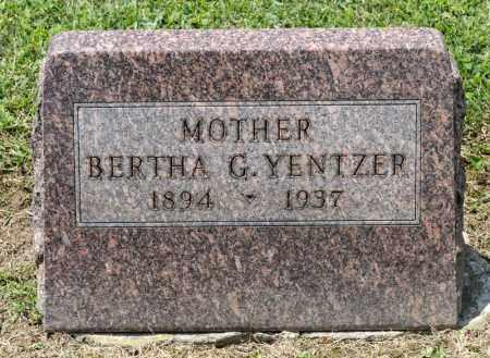 YENTZER, BERTHA G - Richland County, Ohio | BERTHA G YENTZER - Ohio Gravestone Photos