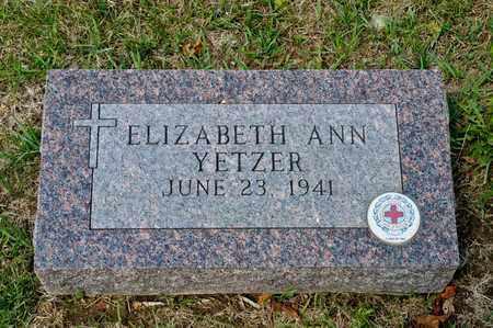 YETZER, ELIZABETH ANN - Richland County, Ohio | ELIZABETH ANN YETZER - Ohio Gravestone Photos