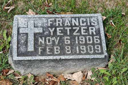 YETZER, FRANCIS - Richland County, Ohio | FRANCIS YETZER - Ohio Gravestone Photos