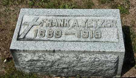 YETZER, FRANK A - Richland County, Ohio | FRANK A YETZER - Ohio Gravestone Photos