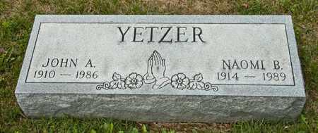 YETZER, NAOMI B - Richland County, Ohio | NAOMI B YETZER - Ohio Gravestone Photos
