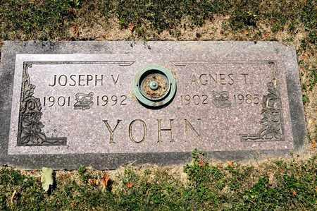 YOHN, AGNES T - Richland County, Ohio | AGNES T YOHN - Ohio Gravestone Photos