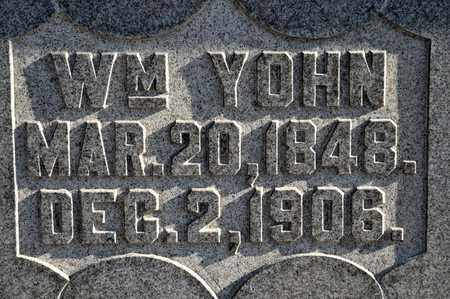 YOHN, WILLIAM - Richland County, Ohio | WILLIAM YOHN - Ohio Gravestone Photos