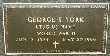 YORK, GEORGE S - Richland County, Ohio | GEORGE S YORK - Ohio Gravestone Photos