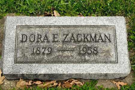 ZACKMAN, DORA E - Richland County, Ohio | DORA E ZACKMAN - Ohio Gravestone Photos