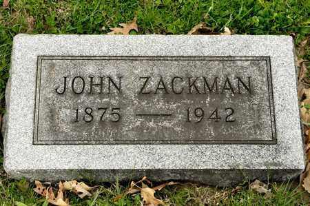 ZACKMAN, JOHN - Richland County, Ohio | JOHN ZACKMAN - Ohio Gravestone Photos
