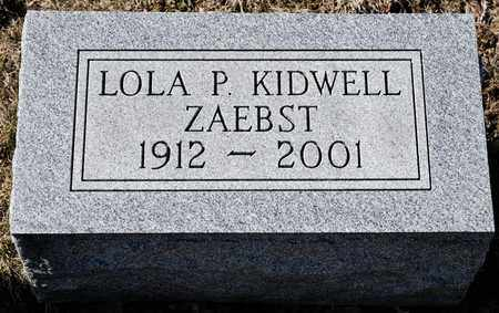 ZAEBST, LOLA P - Richland County, Ohio | LOLA P ZAEBST - Ohio Gravestone Photos