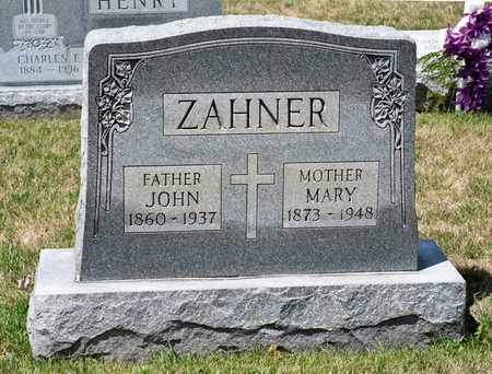 ZAHNER, JOHN - Richland County, Ohio | JOHN ZAHNER - Ohio Gravestone Photos
