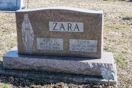 ZARA, MARY C - Richland County, Ohio | MARY C ZARA - Ohio Gravestone Photos