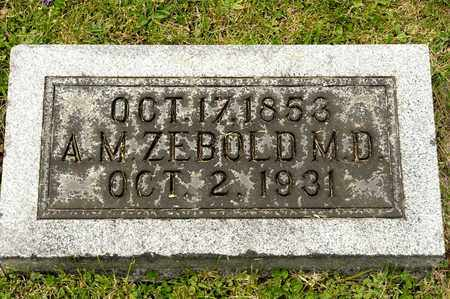 ZEBOLD, A M - Richland County, Ohio | A M ZEBOLD - Ohio Gravestone Photos