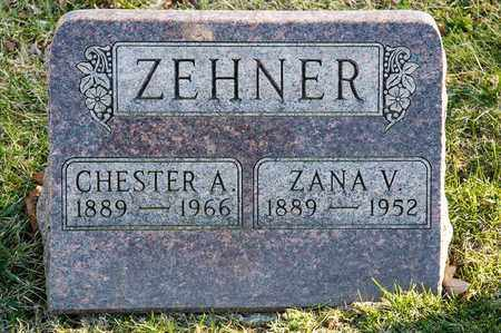 ZEHNER, CHESTER A - Richland County, Ohio | CHESTER A ZEHNER - Ohio Gravestone Photos