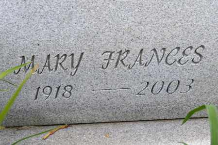 ZEHNER, MARY FRANCES - Richland County, Ohio | MARY FRANCES ZEHNER - Ohio Gravestone Photos