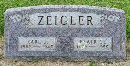 ZEIGLER, EARL J - Richland County, Ohio | EARL J ZEIGLER - Ohio Gravestone Photos