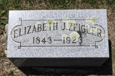 ZEIGLER, ELIZABETH J - Richland County, Ohio | ELIZABETH J ZEIGLER - Ohio Gravestone Photos
