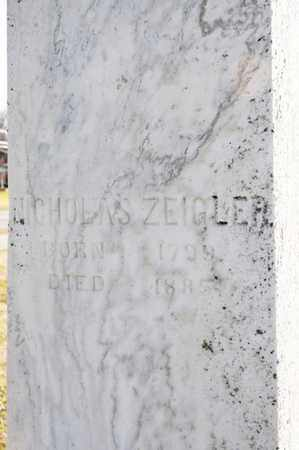 ZEIGLER, NICHOLAS - Richland County, Ohio | NICHOLAS ZEIGLER - Ohio Gravestone Photos