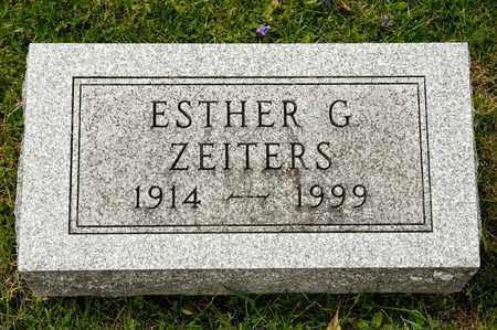 ZEITERS, ESTHER G - Richland County, Ohio | ESTHER G ZEITERS - Ohio Gravestone Photos
