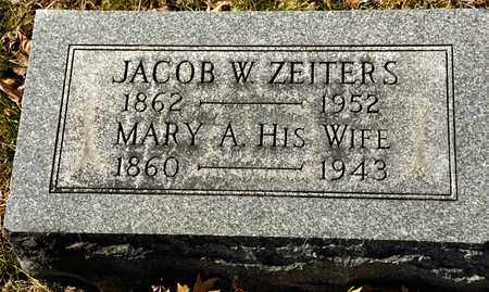 ZEITERS, MARY A - Richland County, Ohio | MARY A ZEITERS - Ohio Gravestone Photos