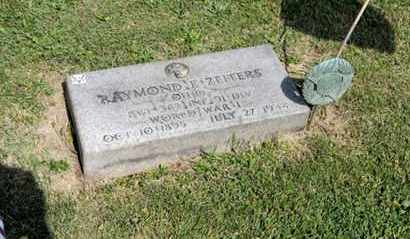 ZEITERS, RAYMOND E - Richland County, Ohio | RAYMOND E ZEITERS - Ohio Gravestone Photos