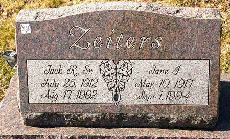 ZEITERS SR, JACK R - Richland County, Ohio | JACK R ZEITERS SR - Ohio Gravestone Photos