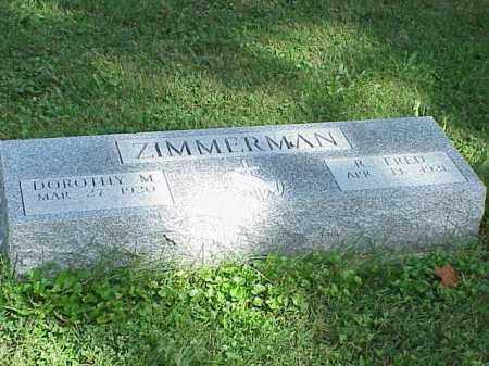 ZIMMERMAN, R. FRED - Richland County, Ohio | R. FRED ZIMMERMAN - Ohio Gravestone Photos