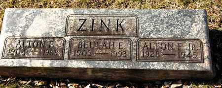 ZINK, BEULAH E - Richland County, Ohio | BEULAH E ZINK - Ohio Gravestone Photos