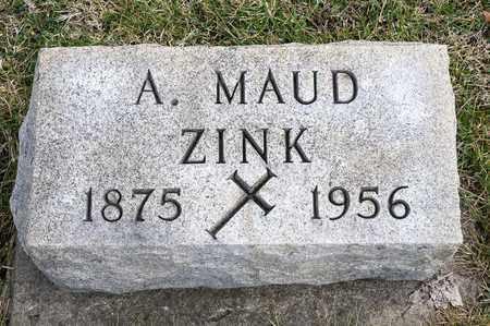ZINK, A MAUD - Richland County, Ohio | A MAUD ZINK - Ohio Gravestone Photos