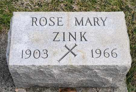 ZINK, ROSE MARY - Richland County, Ohio | ROSE MARY ZINK - Ohio Gravestone Photos