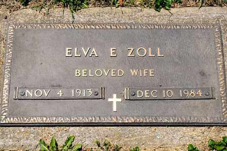 ZOLL, ELVA E - Richland County, Ohio | ELVA E ZOLL - Ohio Gravestone Photos