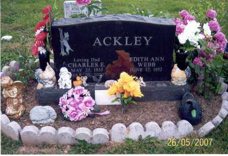 ACKLEY, CHARLES E. - Ross County, Ohio | CHARLES E. ACKLEY - Ohio Gravestone Photos
