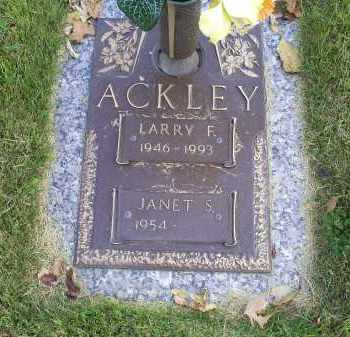 ACKLEY, LARRY F. - Ross County, Ohio | LARRY F. ACKLEY - Ohio Gravestone Photos