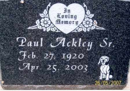 ACKLEY, PAUL, SR. - Ross County, Ohio | PAUL, SR. ACKLEY - Ohio Gravestone Photos