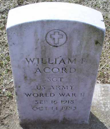 ACORD, WILLIAM F. - Ross County, Ohio | WILLIAM F. ACORD - Ohio Gravestone Photos