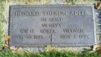 ADLER, HOWARD THERON - Ross County, Ohio | HOWARD THERON ADLER - Ohio Gravestone Photos
