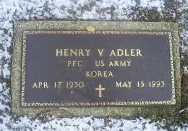 ADLER, HENRY V. - Ross County, Ohio | HENRY V. ADLER - Ohio Gravestone Photos