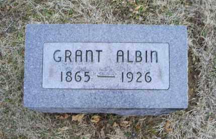 ALBIN, GRANT - Ross County, Ohio | GRANT ALBIN - Ohio Gravestone Photos
