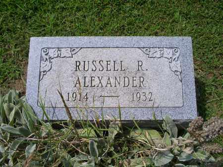 ALEXANDER, RUSSELL R. - Ross County, Ohio | RUSSELL R. ALEXANDER - Ohio Gravestone Photos