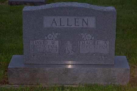 ALLEN, DAVID W. - Ross County, Ohio | DAVID W. ALLEN - Ohio Gravestone Photos