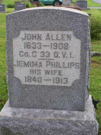 ALLEN, JEMIMA - Ross County, Ohio | JEMIMA ALLEN - Ohio Gravestone Photos