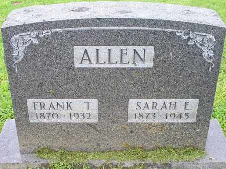 ALLEN, SARAH E. - Ross County, Ohio | SARAH E. ALLEN - Ohio Gravestone Photos